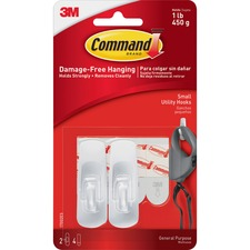 MMM 17002 3M Command Small Removable Hooks MMM17002