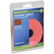 MNK 925085 Monarch 1136 Fluorescent 2-line Pricing Labels MNK925085