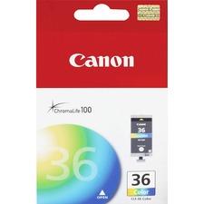 Canon CLI-36 Original Ink Cartridge - Inkjet - Cyan, Magenta, Yellow - 1 Each