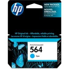 HP 564 Original Ink Cartridge - Single Pack - Inkjet - Standard Yield - 300 Pages - Cyan - 1 Each