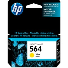 HP 564 Original Ink Cartridge - Single Pack - Inkjet - Yellow - 1 Each