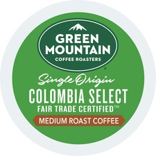 Green Mountain Coffee Roasters Colombian Fair Trade Select - Regular - Light/Mild - K-Cup - 24 / Box