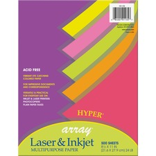PAC 101135 Pacon Array Acid-free Hyper Colored Bond Paper PAC101135