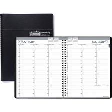 HOD 27202 Doolittle Black Professional 12-mth Weekly Planner HOD27202