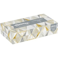 KCC 21606BX Kimberly-Clark Low Profile Box Facial Tissues  KCC21606BX