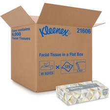 Kimberly-Clark Facial Tissue With Pop-Up Dispenser - 2 Ply - White - 125 Per Box - 48 / Carton