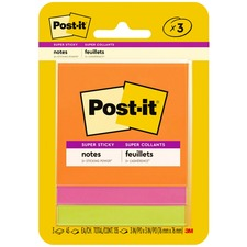 MMM 3321SSAU 3M Post-it 3x3 Super Sticky Jewel Pop Coll. Notes MMM3321SSAU