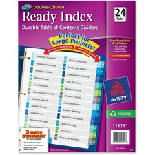 AVE11321 - Avery&reg Ready Index Customizable Table of Contents Double Column Dividers