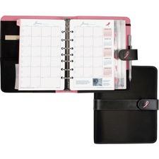DTM 48391 Day-Timer Desk Size Pink Ribbon Binder Starter Set DTM48391