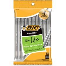 BIC GSMP101BK Bic Round Stic Ballpoint Pens BICGSMP101BK