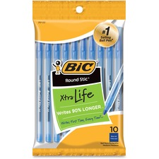 BIC GSMP101BE Bic Round Stic Ballpoint Pens BICGSMP101BE
