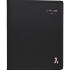 AAG 76PN0805 At-A-Glance Breast Cancer Awareness Mthly Planner AAG76PN0805