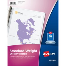 AVE 75540 Avery 3-Hole Top-Loading Sheet Protectors AVE75540