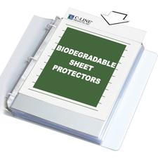 "C-Line Top-loading Standard Sheet Protectors - For Letter 8 1/2"" x 11"" Sheet - Ring Binder - Rectangular - Clear - Polypropylene - 100 / Box"