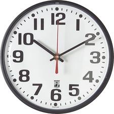 SKILCRAFT SKILCRAFT Black Body SelfSet Wall Clock
