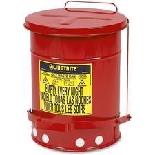 JUS 09100 Just Rite 6 Gallon Oily Waste Can JUS09100