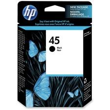 HP 45 Original Ink Cartridge - Single Pack - Inkjet - 930 Pages - Black - 1 Each