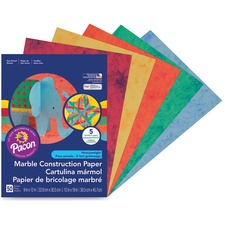 PAC 148200 Pacon Marble Heavyweight Construction Paper PAC148200