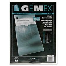 Gemex Vinyl File Pocket - Vinyl - Clear - 50 / Pack