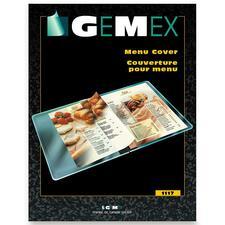 "Gemex Soft Menu Cover - Heavyweight - Clear - Vinyl - 11"" (279.40 mm) Width - 1 Each"