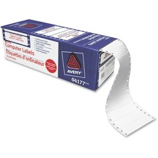 "Avery® Computer Label - Permanent Adhesive - 3 1/2"" Width x 15/16"" Length - Rectangle - Dot Matrix - White - 5000 / Box"