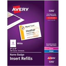 Avery 5392 Name Badge Label