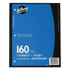 """Hilroy Neatbooks One Subject Notebook - 160 Sheets - 0.28"""" Ruled - 8"""" x 10 1/2"""" - Assorted Paper - Assorted Cover - Perforated, Removable, Hole-punched - 1Each"""