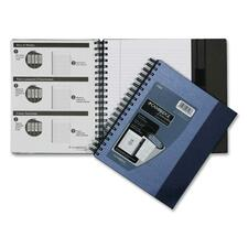 """Hilroy Limited Archiving Notebook - 100 Sheets - Double Wire Spiral - 7 1/8"""" x 9 1/2"""" - White Paper - Perforated, Hard Cover, Pen Holder, Archival, Self-adhesive, Magnetic Closure - 1Each"""