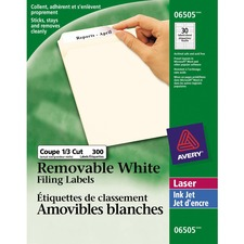"Avery® Laser Label - 3 7/16"" x 2/3"" Length - Removable Adhesive - Rectangle - Laser - White - 300 / Pack"