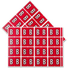 "Pendaflex Color Coded Label - ""Alphabet"" - 1 1/4"" Width x 15/16"" Length - Rectangle - Red - 240 / Pack"