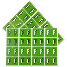 "Pendaflex Color Coded Label - ""Alphabet"" - 1 1/4"" x 15/16"" Length - Rectangle - Light Green - 240 / Pack"