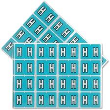 "Pendaflex Color Coded Label - ""Alphabet"" - 1 1/4"" x 15/16"" Length - Rectangle - Light Blue - 240 / Pack"