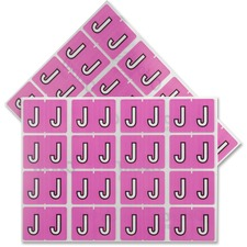 "Pendaflex Color Coded Label - ""Alphabet"" - 1 1/4"" x 15/16"" Length - Rectangle - Lilac - 240 / Pack"
