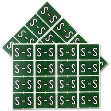 "Pendaflex color Coded Label - ""Alphabet"" - 1 1/4"" x 15/16"" Length - Rectangle - Dark Green - 240 / Pack"