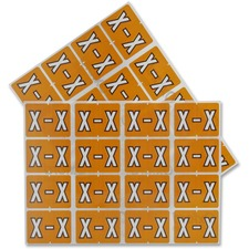 "Pendaflex color Coded Label - ""Alphabet"" - 1 1/4"" x 15/16"" Length - Rectangle - Light Brown - 240 / Pack"