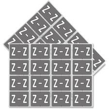 "Pendaflex color Coded Label - ""Alphabet"" - 1 1/4"" x 15/16"" Length - Rectangle - Gray, White - 240 / Pack"