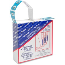 """Pendaflex Color Coded Label - """"Number"""" - 1 1/4"""" x 15/16"""" Length - Rectangle - Blue - 500 / Box"""