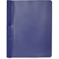 """Hilroy Letter Report Cover - 8 1/2"""" x 11"""" - 3 Fastener(s) - Dark Blue, Clear - 1 Each"""