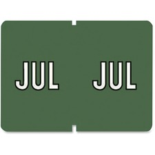 "Pendaflex Monthly Color Coded Label - ""Month"" - 1 1/4"" Width x 15/16"" Length - Rectangle - Assorted - 1 Box"