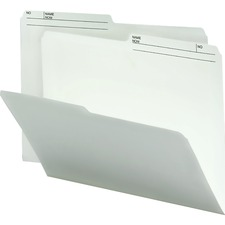 """Smead Top Tab File Folder - Letter - 8 1/2"""" x 11"""" Sheet Size - 3/4"""" Expansion - 1/2 Tab Cut - Paper - Ivory - Recycled - 100 / Box"""