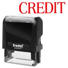 """Trodat Self Inking Stamp - Message Stamp - """"CREDIT"""" - Red - 1 Each"""