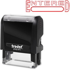 """Trodat Self Inking Stamp - Message/Date Stamp - """"ENTERED"""" - Red - 1 Each"""