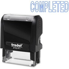 """Trodat Self Inking Stamp - Message Stamp - """"COMPLETED"""" - Blue - 1 Each"""