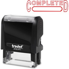 """Trodat Self Inking Stamp - Message/Date Stamp - """"COMPLETED"""" - Red - 1 Each"""
