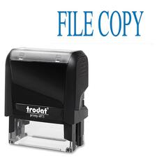 """Trodat Self Inking Stamp - Message Stamp - """"FILE COPY"""" - Blue - 1 Each"""