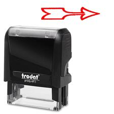 Trodat Self Inking Stamp - Design Stamp - Red - 1 Each