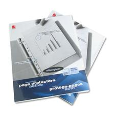 """Wilson Jones Heavyweight Multi Punched Page Protector - For Letter 8 1/2"""" x 11"""" Sheet - Rectangular - Clear - 100 / Box"""