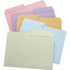 Manila 2 Reversible Tab 1//2-Cut 100 Per Box Smead 10445 Heavyweight File Folder Letter