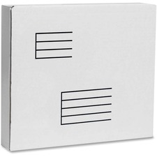 """Test Corrugated Mailing Box - External Dimensions: 10.5"""" Width x 2.1"""" Depth x 12"""" Height - 200 lb - White - For Document, Multipurpose - Recycled"""
