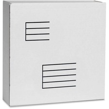 """Test Corrugated Mailing Box - External Dimensions: 12.3"""" Width x 3.9"""" Depth x 12"""" Height - 200 lb - White - For Document, Multipurpose - Recycled"""